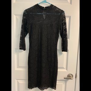 Forever 21 Black Long Sleeve Lace Dress
